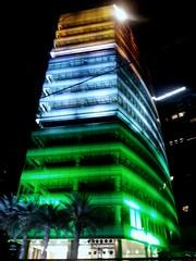 Republic Day Lighting #flag #orange #white #green #3colour #india #tall #building #bangalore #india #republicday #night (Ramki Ramesh) Tags: orange bangalore flag green 3colour white night tall india building republicday