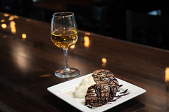 Dessert and a drink (lad49) Tags: wine whitewine dessert sweets sonyalpha