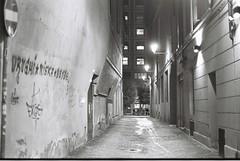 Bologna (goodfella2459) Tags: nikonf4 afnikkor50mmf14dlens kodaktmax400 35mm blackandwhite film analog city bologna night italy streets buildings light bwfp