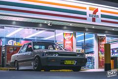 _DSC7155 (Prime Excel) Tags: r31 nissan skyline automotive cars nightphotography night tones 7eleven