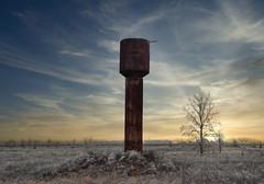 IMG_8128 (gidlark) Tags: ukraine luminar4 landscape watertower trees tree frost sunset