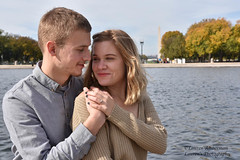 Reflecting on love (lauren3838 photography) Tags: laurensphotography lauren3838photography engagement engagementphotography engagementring esession couple engaged rings love dc washingtondc washington nikon d750 fall autumn moments portrait dof