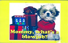 18 Serafaina (Rocky's Postcards) Tags: puppy blowjob presents postcard serafaina