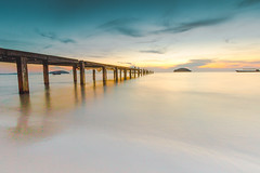 Serenity (ericmontalban) Tags: longexposure bridge cambodia asia landscape sunset