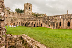 Fountains Abbey (Keith now in Wiltshire) Tags: fountainsabbey abbey church monastery tower cloister dormitory ruins ripon yorkshire england building architecture ancient gradei listed unesco people nationaltrust grass sky