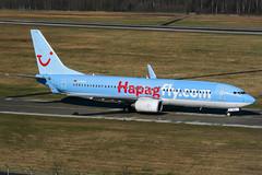 D-AHFJ (PlanePixNase) Tags: aircraft airport planespotting haj eddv hannover langenhagen plane boeing 737800 737 b738 tui tuifly hapaglloyd hapagfly