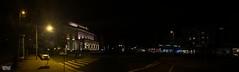 Silent Night in Braunschweig (Stefan Beckhusen) Tags: braunschweig brunswick theater night nightshot nightlights streetlife streetscenery crossing panorama iphone11pro dark darkness illumination building city town germany goinghome