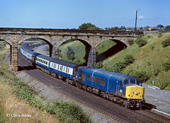 Class 45 Peak At Stonebridge (chrissyMD655) Tags: stonebridge durham ecml class 45 peak 45132 br blue era