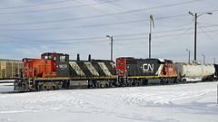 _24 DSC6090 CN 1438 (Colin Arnot) Tags: railway locomotive edmonton cloverbar cn canadiannational emd gmd1u cn1438 gp382 cn7514