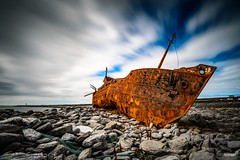 The Wrecks are Brown (v.2.0) (Holger Glaab) Tags: inisheer inisoir plassey wreck ship coast seascape landscape rocks travel ireland clouds longexposure rust