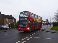 AL DW437 - LJ11ABU - MAYPLACE ROAD EAST - THUR 23RD JAN 2020 (Bexleybus) Tags: bexleyheath kent da7 tfl route wrightbus gemini 99 arriva london mayplace road east daf dw437 lj11abu
