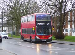 GAL E132 - SN60BZD - ERITH ROAD BEXLEYHEATH - FRI 24TH JAN 2020 (Bexleybus) Tags: bexleyheath kent da7 tfl route b16 goahead go ahead london adl dennis enviro 400 e132 sn60bzd bx bus garage erith road depot