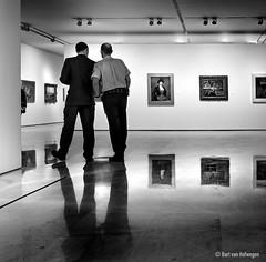 Guard the Art (Bart van Hofwegen) Tags: guard guards guarding museum art people men monochrome blackandwhite reflection reflections exhibition