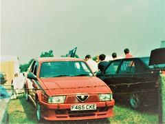 Alfa Romeo 75 2.0 Twin Spark F465CKE (Andrew 2.8i) Tags: carspotting spotting car cars classic classics track street streetspotting united kingdom castle combe uk italian sports hatch hatchback ts twinspark 20 75 alfaromeo f465cke