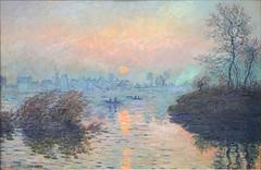 Soleil couchant sur la Seine de Claude Monet (Musée du Petit Palais, Paris)