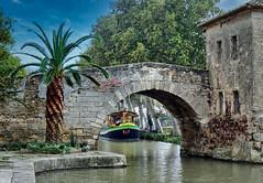 Port du Somail (gerhard-pr) Tags: canal du midi frankreich kanal brücke boot port somail