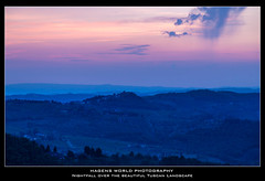 Nightfall over the beautiful Tuscan Landscape (Hagens_world) Tags: landscape italien toskana italia italy landschaft natur nature toscana tuscany natura paisaje lamole
