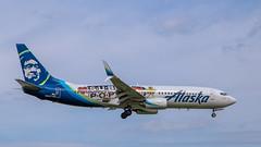 "Alaska Airlines/Sub Pop ""N587AS"" (NoVa Truck & Transport Photos) Tags: alaska airlines sub pop boeing 737800 n587as plane aircraft aviation jet commercial passenger"