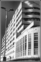 Marine Court, Hastings. (tony allan tony allan) Tags: architecture building m42 manualfocus mono monochrome blackandwhite blackwhite urbanperspectives urban legacyglass lens sonya6000 carlzeissjenatessar50mmlens