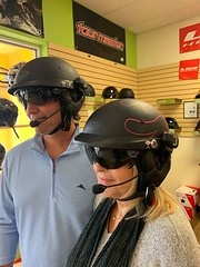 A big Thanks to Anthony and Mindy, hope you enjoy your new Bell helmets with Sena Communication device. (The Helmet Shop) Tags: motorcycle helmets the helmet shop