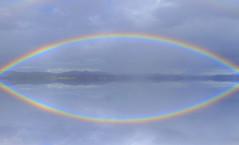 Rainbow Reflection.....HAPPY AUSTRALIA DAY !!!! (Lani Elliott) Tags: rainbow sky bluesky reflection rainbowreflection tasmania scene scenic view scenictasmania colour colourful beautiful lanielliott nature naturephotography