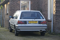 1990 Nissan Sunny 1.3 SLX (NielsdeWit) Tags: nielsdewit car vehicle carspot yh02pf nissan sunny 1990 13 slx ede