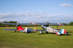 Martlet and Scout (Aeroplanes Everywhere) Tags: aircraft civilianaircraft vintageaircraft ww1aircraft fighteraircraft fighter airshows shuttleworthcollection singleenginedaircraft touringaircraft aviation pistonenginedaircraft seasonpremiere airplanes unitedkingdom england biggleswade terrace