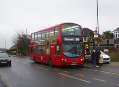 AL DW457 - LJ61CFF - MAYPLACE ROAD EAST - FRI 24TH JAN 2020 (Bexleybus) Tags: bexleyheath kent da7 tfl route wrightbus gemini 99 arriva london mayplace road east daf dw457 lj61cff