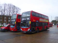 GAL E132 SN60BZD - WVL274 LX59CYL - BX BEXLEYHEATH BUS GARAGE - FRI 24TH JAN 2020 (Bexleybus) Tags: bexleyheath kent da7 tfl route b16 goahead go ahead london adl dennis enviro 400 e132 sn60bzd wrightbus gemini wvl274 lx68cyl 132 bx bus garage erith road depot volvo b9tl