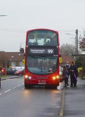 AL DW429 - LJ11ADU - MAYPLACE ROAD EAST - FRI 24TH JAN 2020 (Bexleybus) Tags: bexleyheath kent da7 tfl route wrightbus gemini 99 arriva london mayplace road east daf dw429 lj11adu