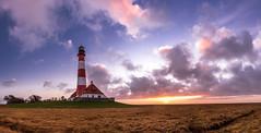 Westerhever 2/4 (lars.stender) Tags: westerhever schleswigholstein deutschland leuchtturm lighthouse nordsee northsea fuji xt3 fujixt3 wattenmeer sonnenuntergang sunset