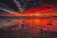 Aberffraw Beach Sunset (Mark Palombella Hart) Tags: sunset beach sand landscape seascape coastal anglesey wales potd photo photographer seashore bay nature scenic aberffraw
