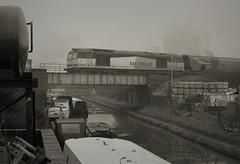A Bit of Sunshine Wouldn't Go Amiss (whosoever2) Tags: uk united kingdom gb great britain england nikon d7100 train railway railroad january 2020 wincham wharf trent mersey canal northwich lostock gbrf class60 60059 6e09 lkiverpool drax biomass mist fog