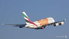 "Airbus A380-861, Emirates livrée ""EXPO 2020 Orange"", A6-EOB (maxguenat) Tags: lszh zurich kloten spotter spotting avion aircraft airplane airplanes"