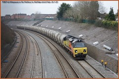 Photo of 70807 cement 6C36 Westbury to Aberthaw Abbeywood 24-1-20 1