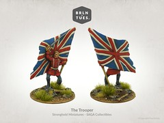 The Trooper / Stronghold Miniatures - SAGA Collectibles (berlintuesday) Tags: wargames wargame wargaming painted painter painting berlintuesday model models miniatures minis tabletopgaming fantasy flag unionflag unionjack thetrooper trooper eddie redcoat heavymetal strongholdterrain stronghold sword
