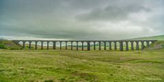 Ribblehead Viaduct from the middle of Batty Moss in the Ribble Valley (Peter.Stokes) Tags: bridge england holiday colour landscape outdoors photography photo locomotive colourphotography uk travel vacation spring scenery traffic transport railway viaduct locomotives train