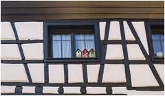 212- DECORACIÓN EN LA ALSACIA -KAYSERSBERG- (Franacia) (--MARCO POLO--) Tags: edificios rincones arquitectura curiosidades ventanas decoración