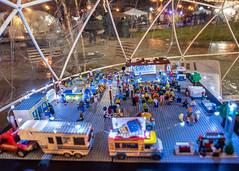 Lego Model of Jack Elstro Plaza during the Meltdown Ice Festival (janedsh) Tags: festival wayne county meltdown indiana jack elstro plaza lego richmond park sculptor photo by jane holmanphotoscom icecarver jackelstroplaza photobyjane waynecounty