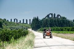 Ancient Aquaduct Modern Tractor (Jan Carhart Photography) Tags: aquaduct roman tractor modern ancient contrast turkey turkish antolia asiaminor
