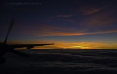 Dash of Dawn 2012 (Greg Reed 54) Tags: dehavillanddash8 dhc8 8 dash8 flight aviation aerial sunrise dawn morning orange red yellow