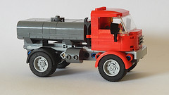 Vintage Tanker Truck (MOC - 4K) (František Hajdekr) Tags: lego buildingblocks tip help tips inspiration design manual moc myowncreation instruction instructions toy model buildingbricks bricks brick builder buildingtoy truck vehicle transport car automobile print mudguard custom 3dprint prusa pla petg prusament tankertruck vintage old camion lorry