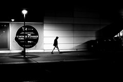 Before the shadows (pascalcolin1) Tags: paris13 homme man nuit night lumière light lamppost lampadaire mur wall ombres shadows shade photoderue streetview urbanarte noiretblanc blackandwhite photopascalcolin 50mm canon50mm canon