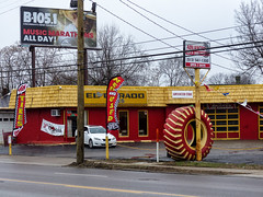 Advanced Tire On A Cold And Rainy Day (J Wells S) Tags: advancedtire tirestore storefront tire signs urban eldoradotires garage yokohamatires newtires usedtires northside cincinnati ohio