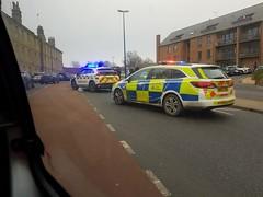 Accident A231 Dock Road (jf01350) Tags: police car coastguard blue light lights accident crash kent chatham a231