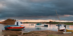 sunset..before it comes.. (jimmorse) Tags: sunset alnmouth northumberland boats