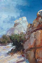 Joshua tree (bozhenafuchs) Tags: art artwork painting oilpainting canvas artist artistonflickr etsy fineart landscape nature landscapepainting