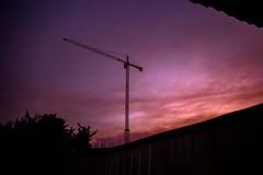 Rok. (Wato__) Tags: sky crane coloredsky city cielo grua cielocolorido ciudad