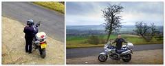 Longstone Edge & us three.. (Mike-Lee) Tags: longstoneedge peakdistrict cagivanavigator1000 bike motorbike mike jill jan2020 derbyshire collage picasa