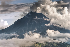 Tungurahua volcano phreactic eruption (Vojvoda Fine Art Photography) Tags: andes cloudsky ecuador southamerica tungurahua volcaniclandscape volcano beautyinnature colorimage daylight eruption landscape mountain nature nopeople outdoors phreaticeruption powerinnature scenery steam volcan volcanicactivity